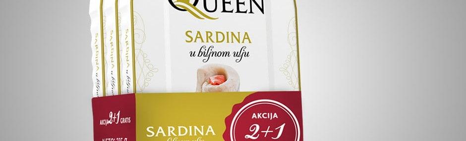 Akcijska prodaja AQ Sardina u biljnom ulju 2+1 gratis